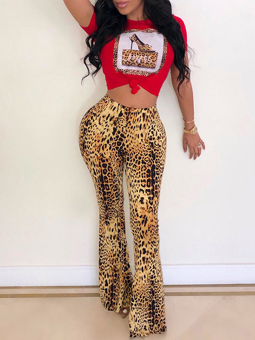Rhinestone Hot Drilling Knotted Two Piece Sets