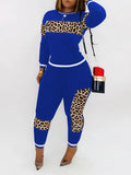 Patchwork Leopard Long Sleeve Top & Pants