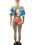 Fashion Print Three Pieces Swimwear