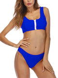 Backless Sleeveless Two Piece Swimming Suit