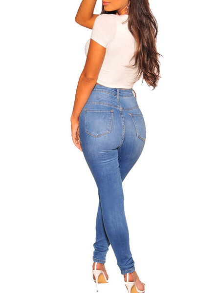 Fashion Casual Denim Long Pants