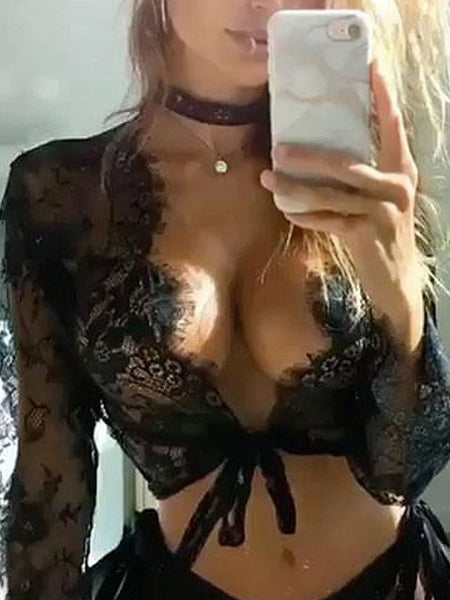 Sexy Lace See-through Tops