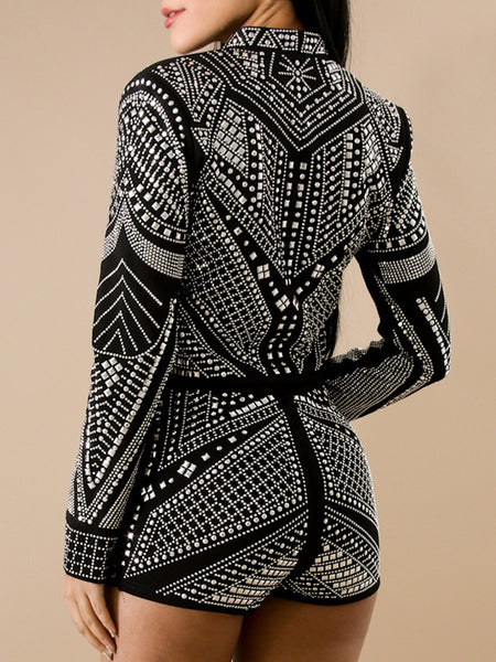 Diamante Decorative Nigth Club Suit