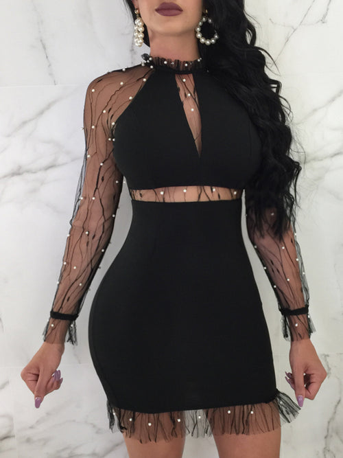 Sexy See-through Night Club Mini Dress