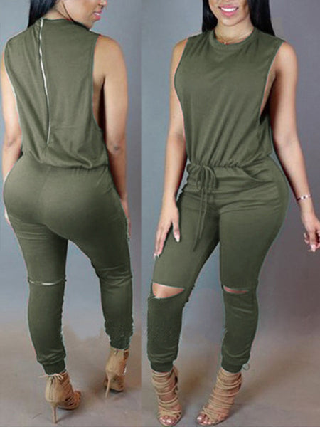 Copy of Print Long Sleeves Skinny Jumpsuit