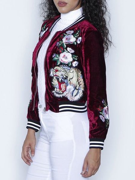 Fashion Embroidered Long Sleeves Outerwear