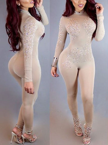 Sexy See-through Gauze Jumpsuit for Night Club