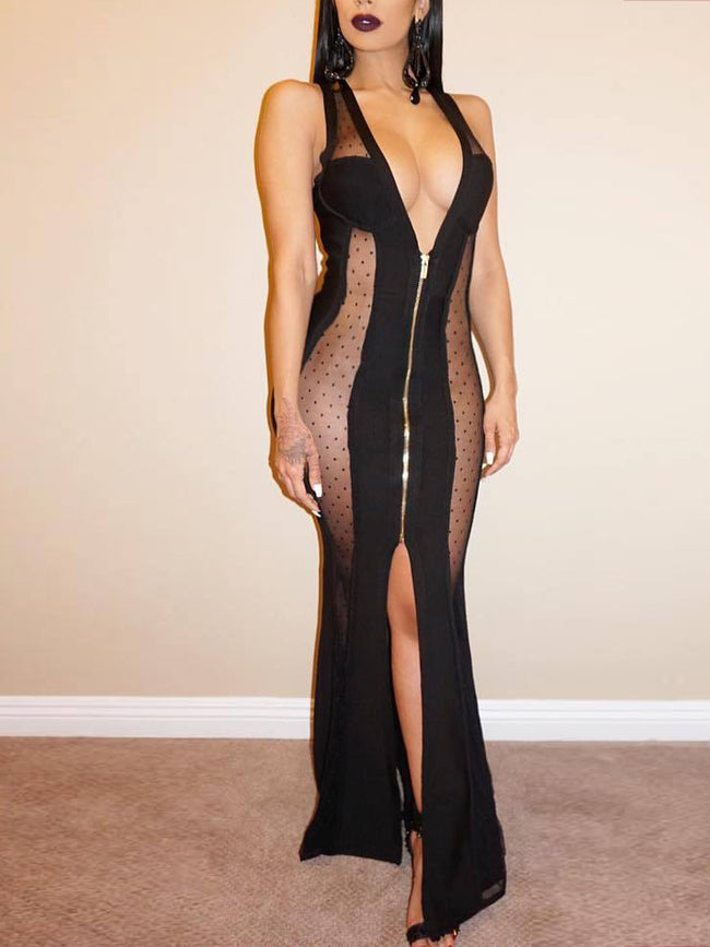 See Through Night Club Long Dress