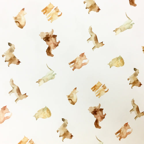 Watercolor Cat Gift Wrap - Single Sheet
