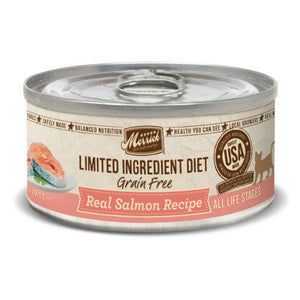 Merrick Cat Food Real Salmon Grain Free Cat Food Wet Can