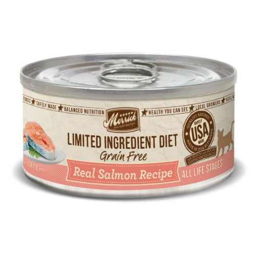 Merrick Real Salmon Grain Free Cat Food Wet Can
