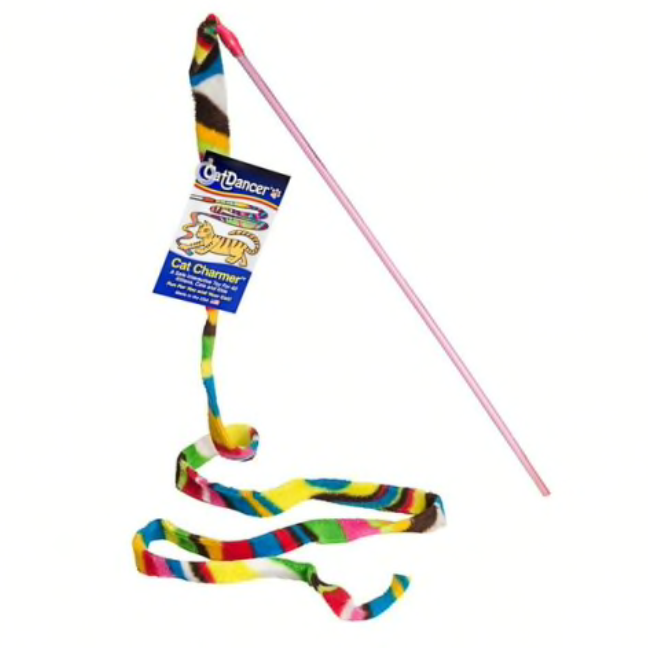 Cat Dancer Rainbow Ribbon Wand Toy