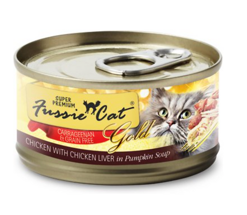Fussie Cat Chicken with Chicken Liver Formula in Pumpkin Soup