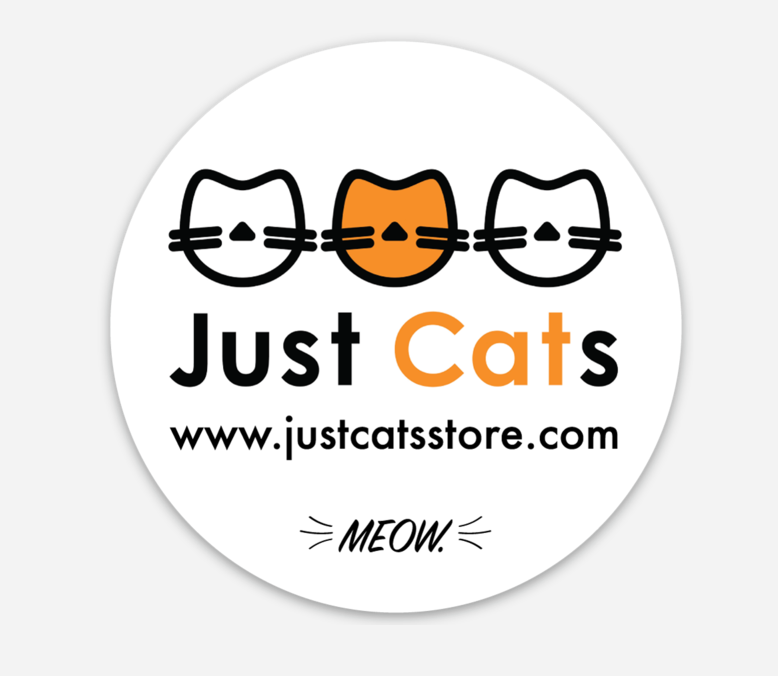 Just Cats Matte Vinyl Sticker