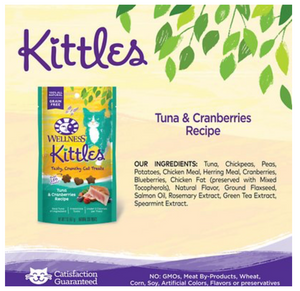 Wellness Kittles Treats - Tuna & Cranberry