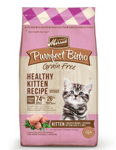 Merrick Purrfect Bistro Grain-Free Healthy Kitten Recipe Kibble