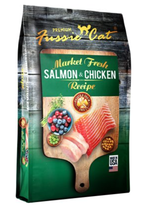 Fussie Cat Market Fresh Salmon & Chicken Recipe - Kibble