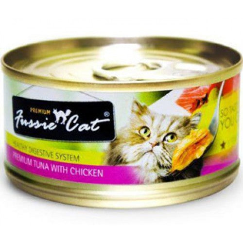 Fussie Cat Premium Tuna with Chicken in Aspic