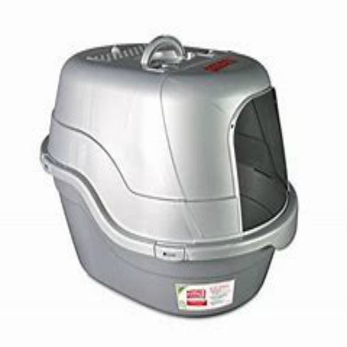 Natures Miracle Hooded Silver Litter Box