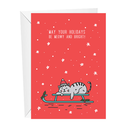 Meowy and Bright Christmas Card