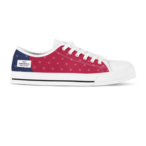 MAGA Red, White, and Blue - Women's low top shoes