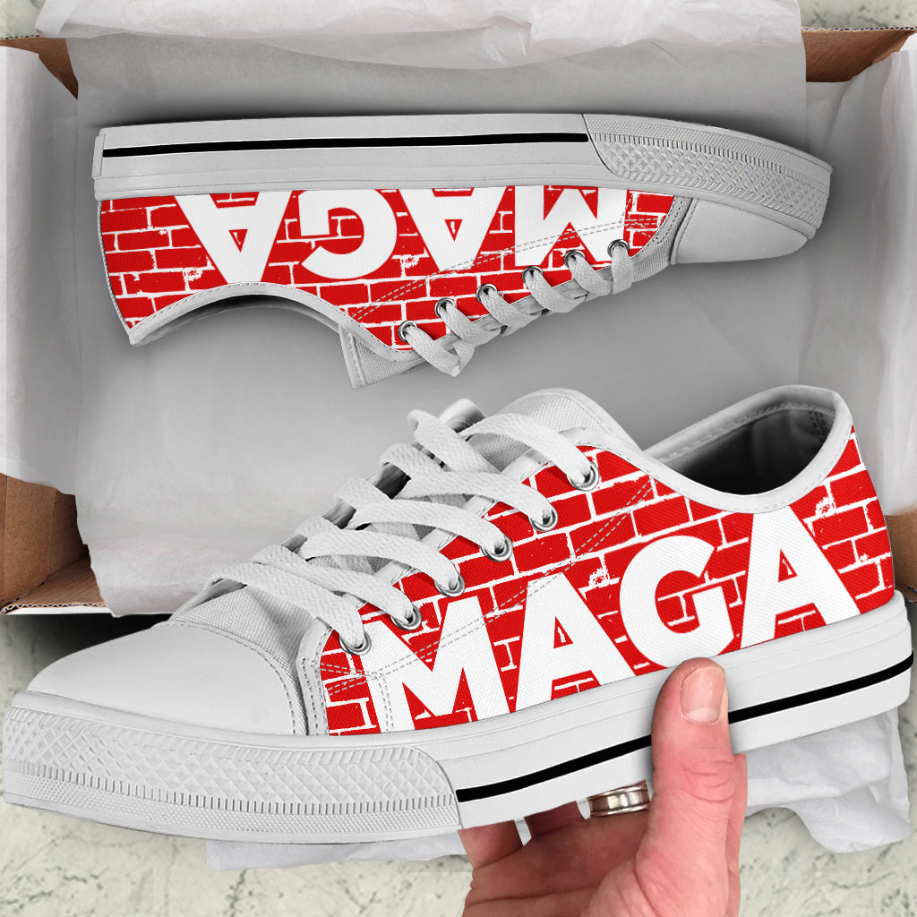 MAGA Wall - Women's Low Top Shoes
