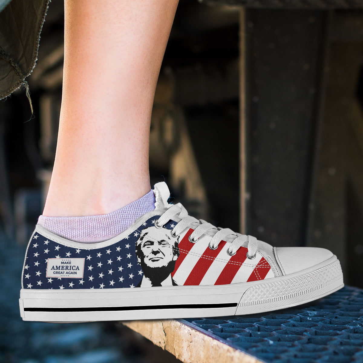 Trump MAGA -Women's Low Top Shoes