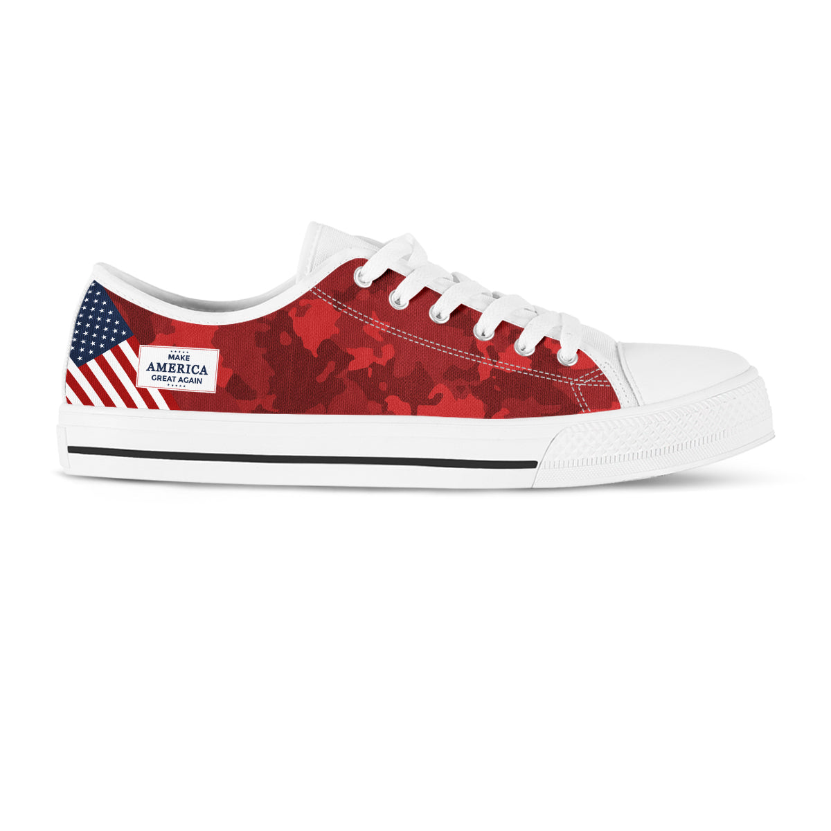 MAGA Red Camo - Women's Low Top Shoes