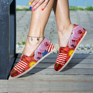 Floral USA Casual Slip-Ons