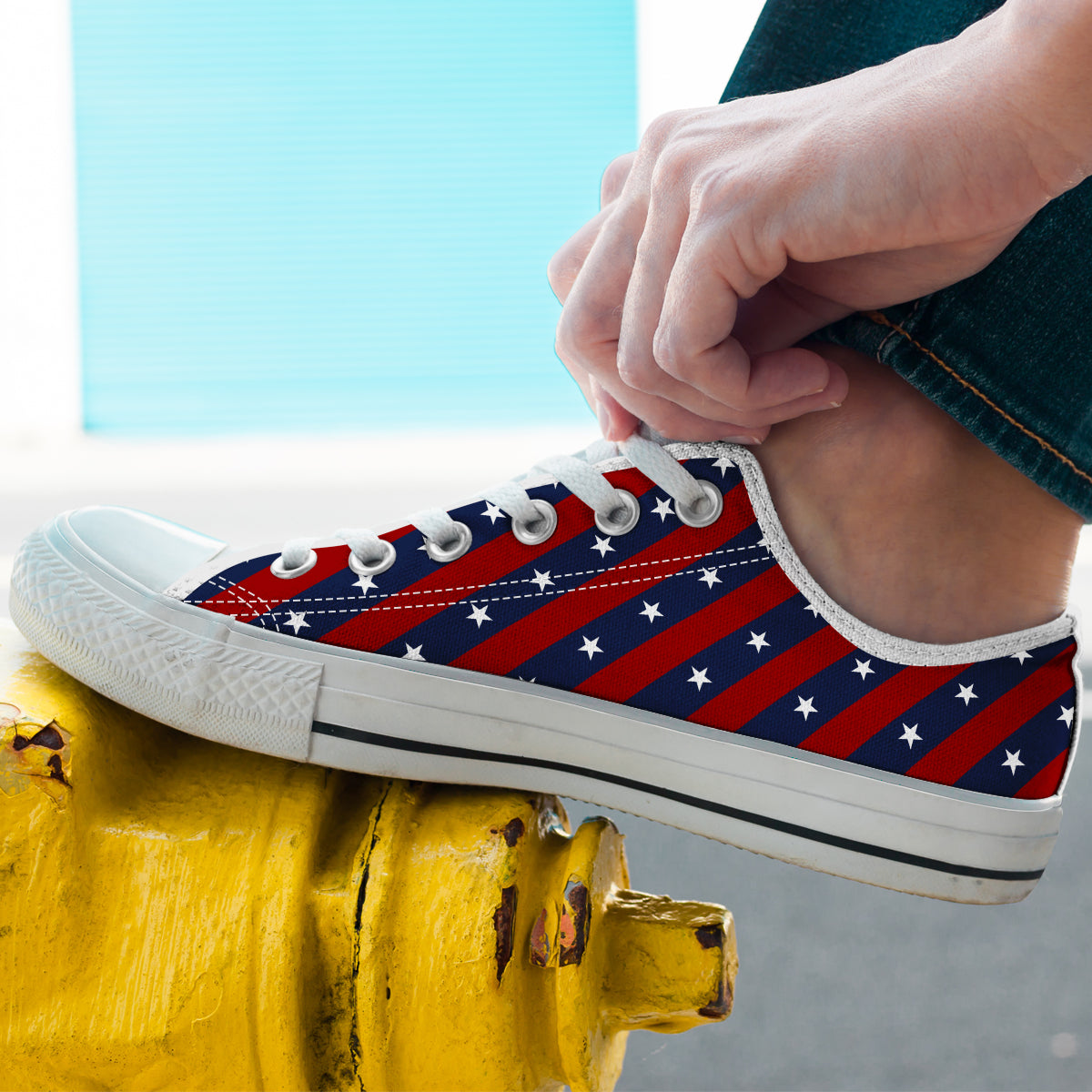 Stars and Stripes - Men's Low Top Shoes