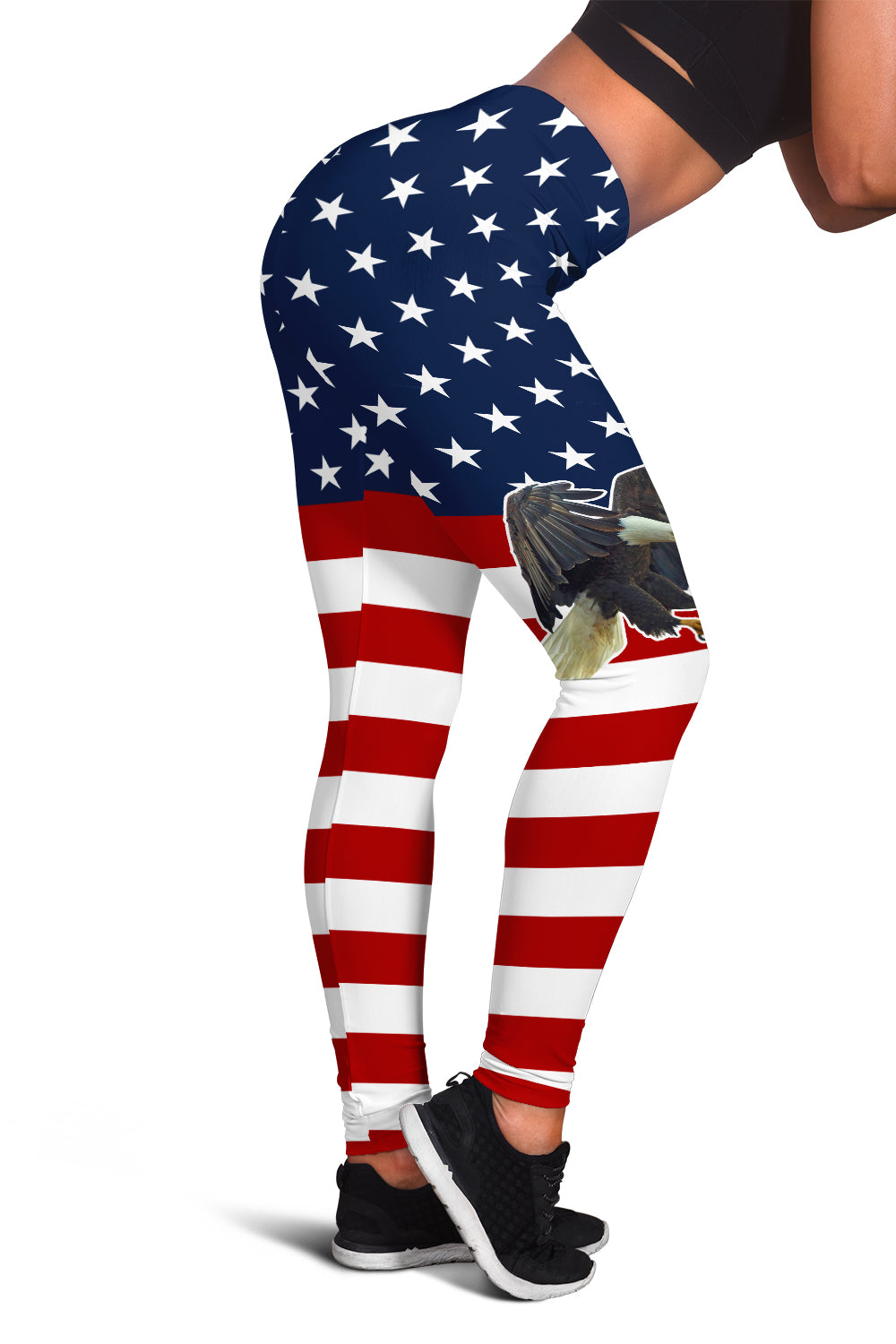 USA Flag & Eagle Leggings