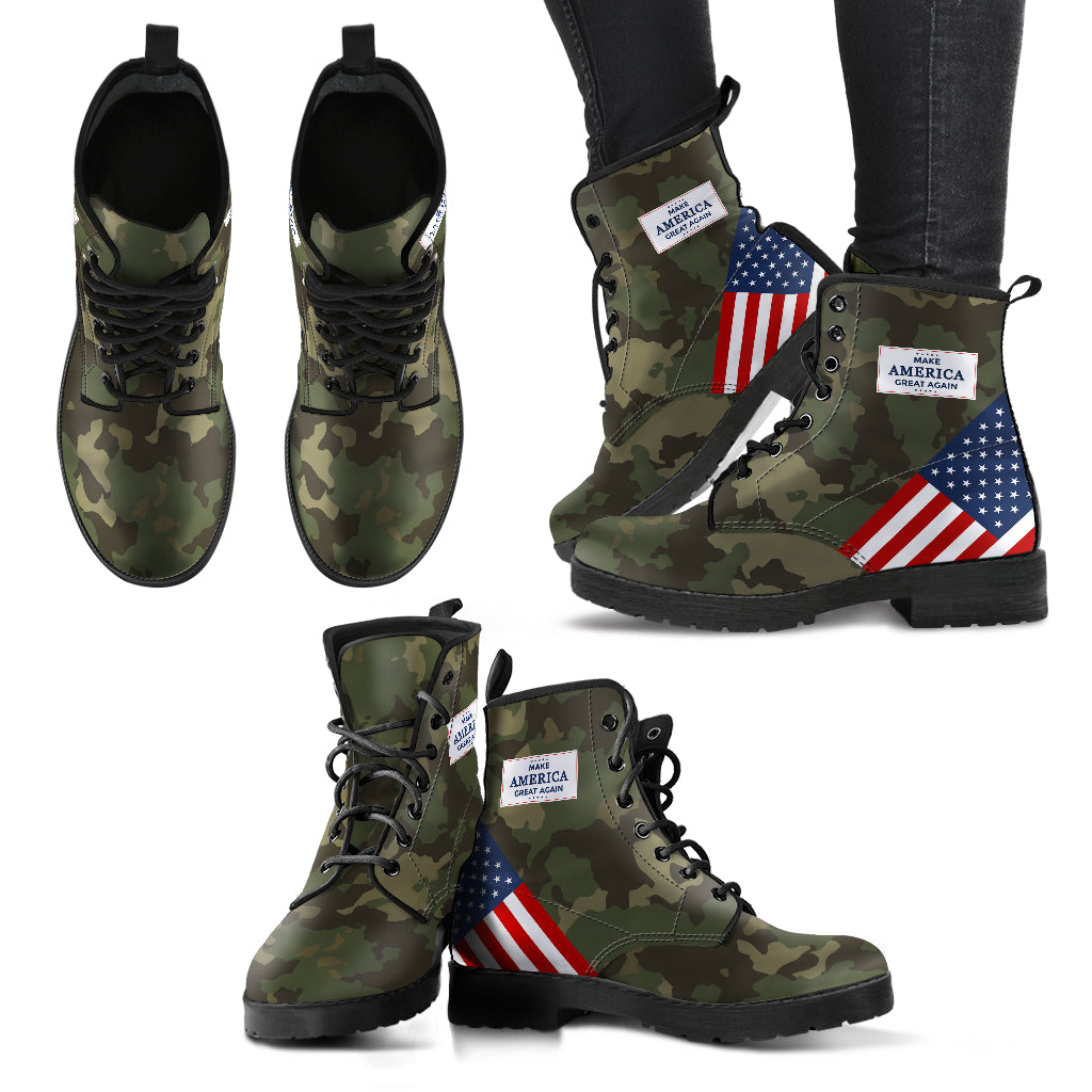 Camo MAGA - Women's leather boots