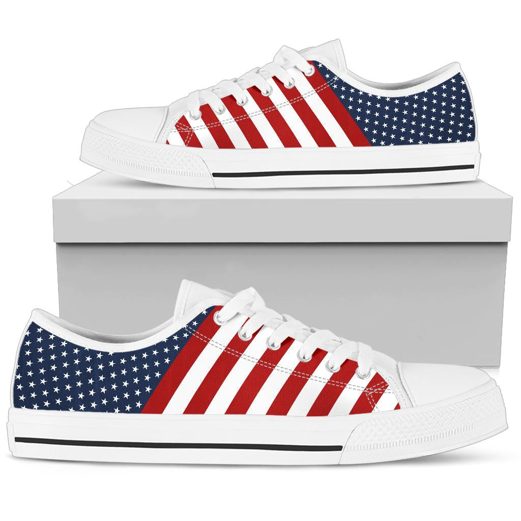 USA Flag - Low Tops