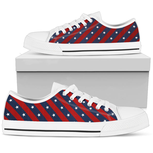 Stars and Stripes Women's Low Top Shoes