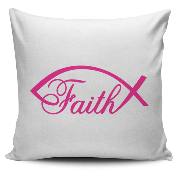 Faith Fish Pillow