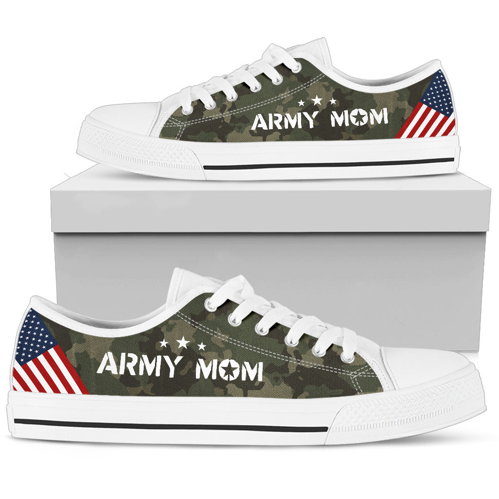 Camo Army Mom - Women's Low Tops