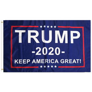FREE Trump 2020 Flag - Keep America Great! - 3 ft x 5 ft e