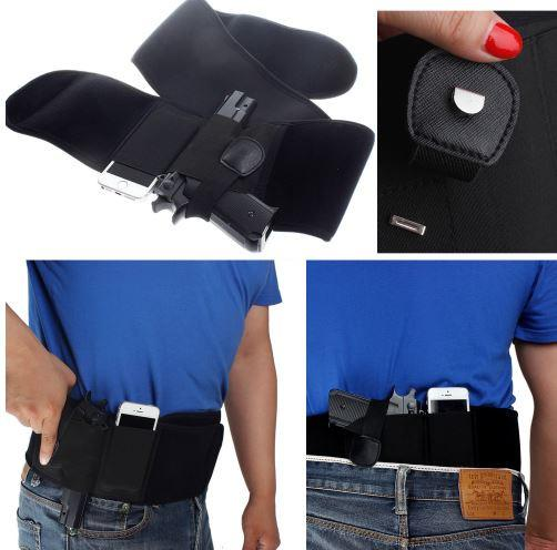Belly Band Holster with Phone - Specifically made for RUNNERS