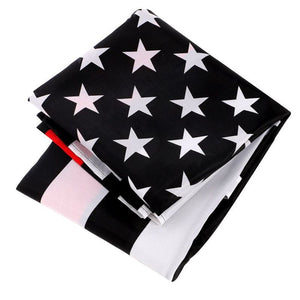 FREE Red Line American Flag - 3 ft x 5 ft