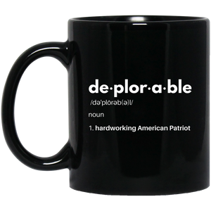 Deplorable Definition: Hardworking American Patriot - Mug and Coaster