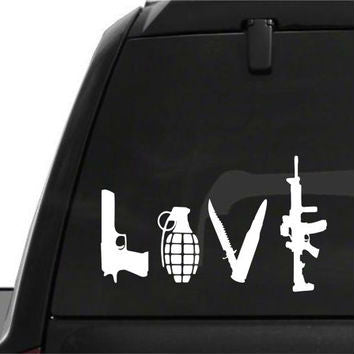 Gun Love Car Decals