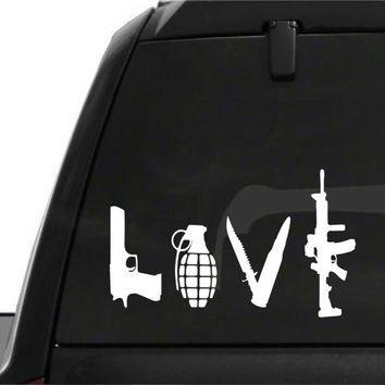 FREE Gun Love Car Decals