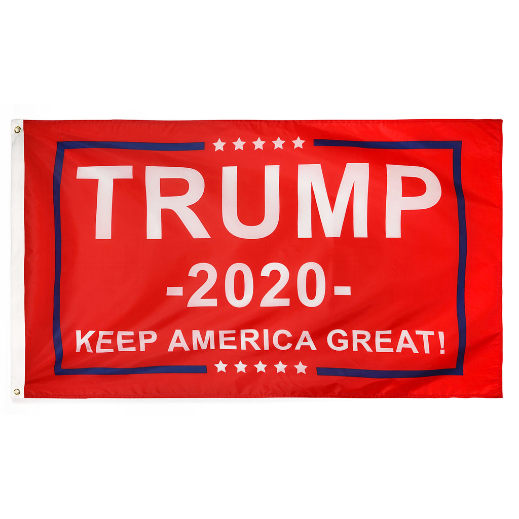 FREE RED Trump 2020 Flag - Keep America Great! - 3 ft x 5 ft