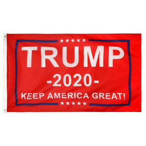 FREE RED Trump 2020 Flag - Keep America Great! -- 3 ft x 5 ft