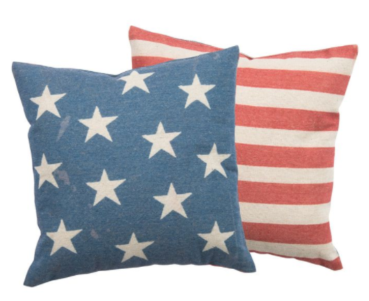 Pastel Stars and Stripes Pillow Case Set