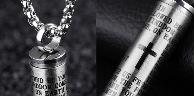 Lord's Prayer Bullet Necklace