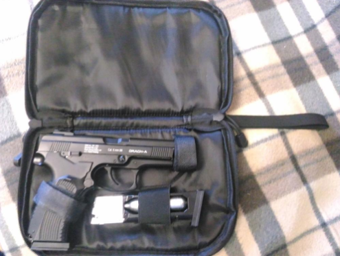 Tactical Pistol Carry Case - With Mag Holder