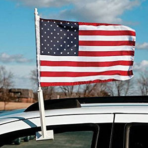 "USA Car Flags (PACK OF 2) - 12"" x 18"""