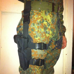 Tactical Thigh Holster - Adjustable with Extra Mag Slot