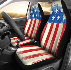 American Flag Seat Covers